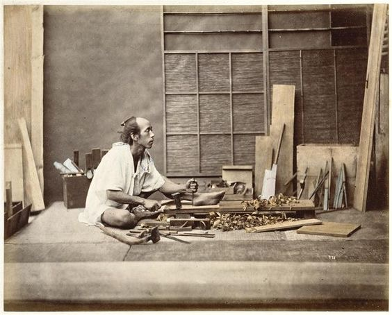 1880s Japanese carpenter