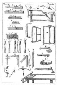 Chart of carpenter's tools