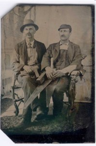 Vintage Carpenter photo of 2 men.