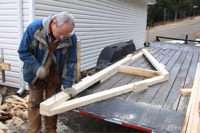 kiln shed,trusses,milling lumber