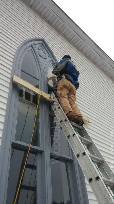 church repairs,wind damage,church windows