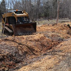 skid steer,chipping trees,forestry,arborist,landscaping