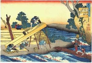 Japanese,sawing lumber,saw pits,vintage logging photos,old photographs