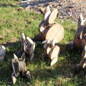 wooden rabbits