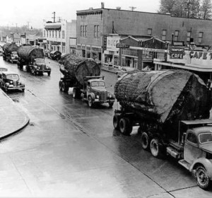 trucking logs,big logs,logging,forestry,parade