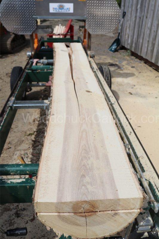 saw mlling, ash logs, Nova Scotia, stress, reaction wood.