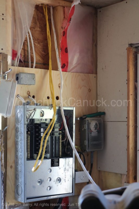 electrical panel upgrade,workshop,woodworking,sawmilling