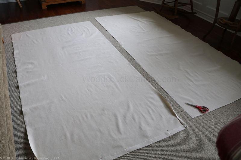 DIY drop cloth drapes