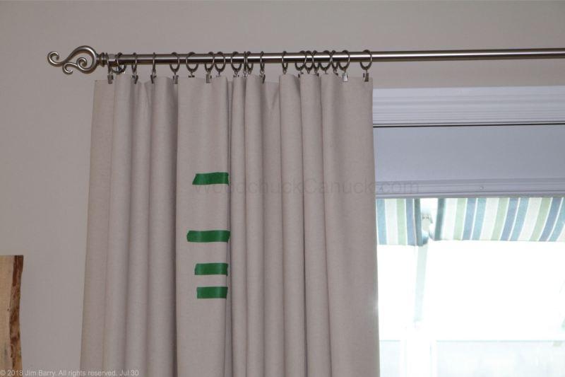 DIY painted drop cloth drapes