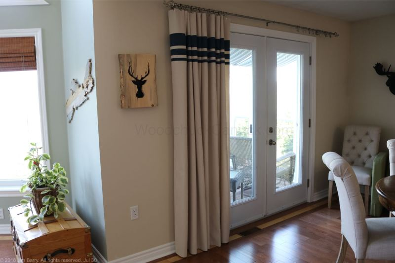 DIY painted drop cloth drapes