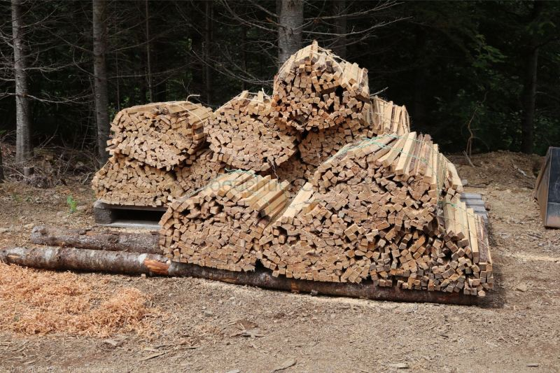 bundles of wood for the pottery kiln