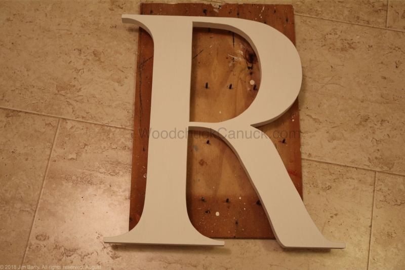 Wood letter cut out for a sign
