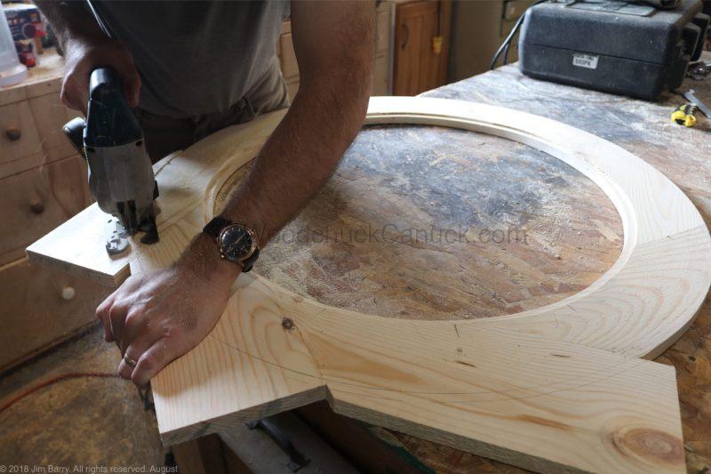 DIY round wooden mirror frame