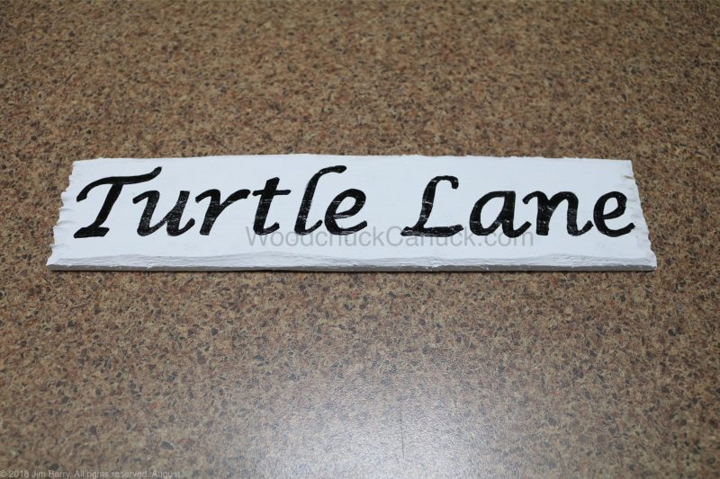 DIY sign for Turtle Lane