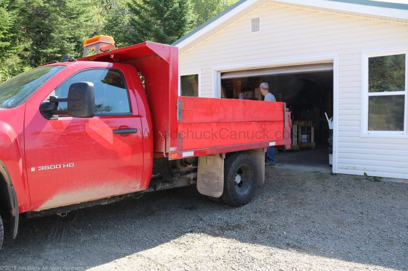 One tonne dump truck