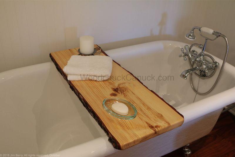 Live edge bathtub tray DIY