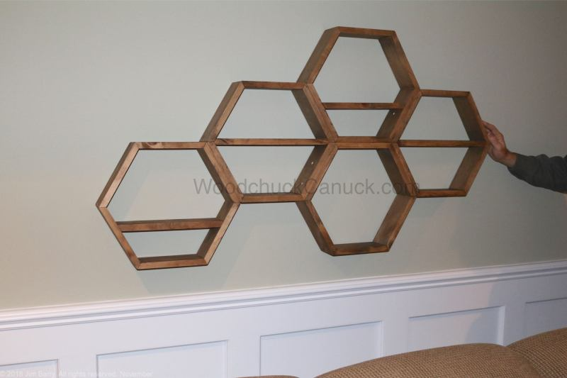 DIY,hexagon shelves,honeycomb shelves