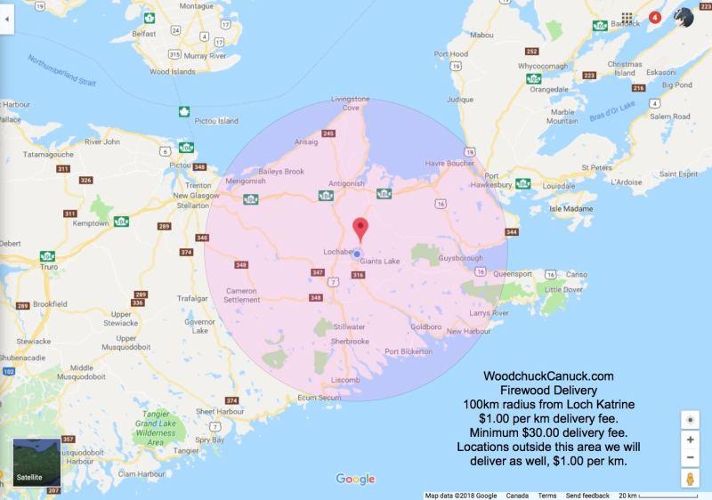 firewood delivery, northeastern Nova Scotia, Antigonish County, Guysborough County, Pictou County.