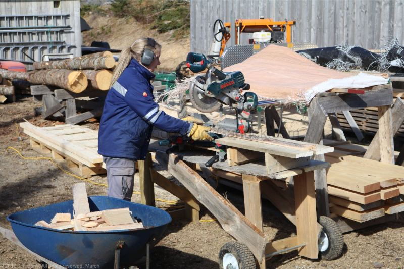 pallet making, Nova Scotia, local resources, Antigonish County, Guysborough County
