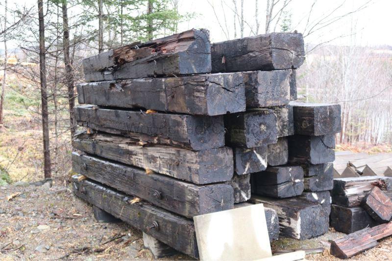 building a backyard shed, tool storage, foundation work, digging, wharf timbers, Antigonish County, Guysborough County,  Nova Scotia