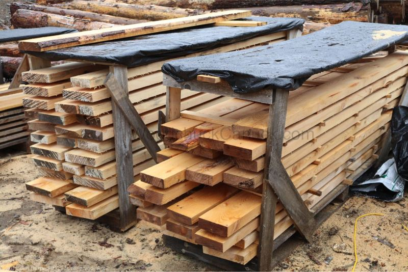 Sawmilled lumber for sale.