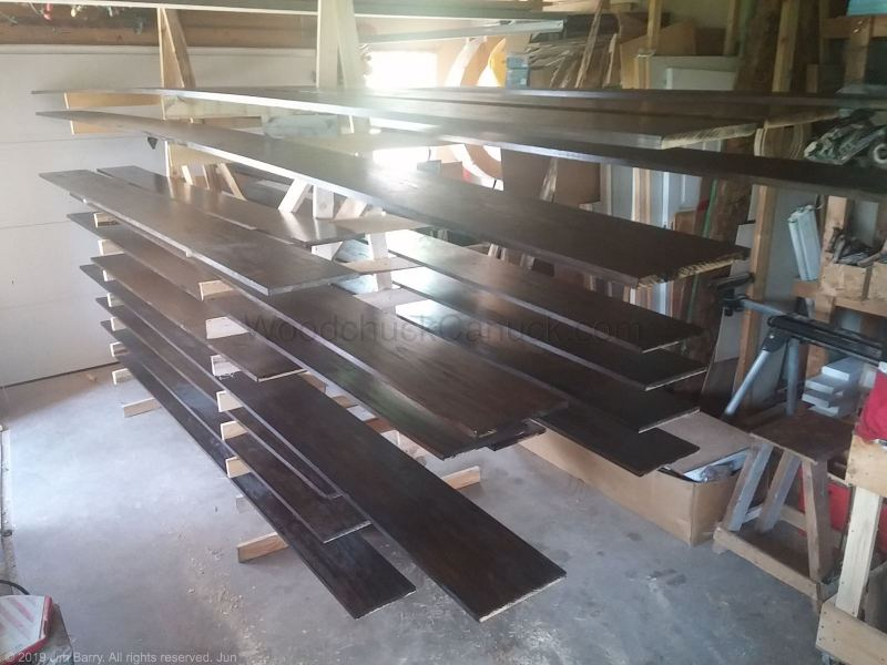 posts,beams,beam wraps,pine boards,carpentry,woodworking,staining