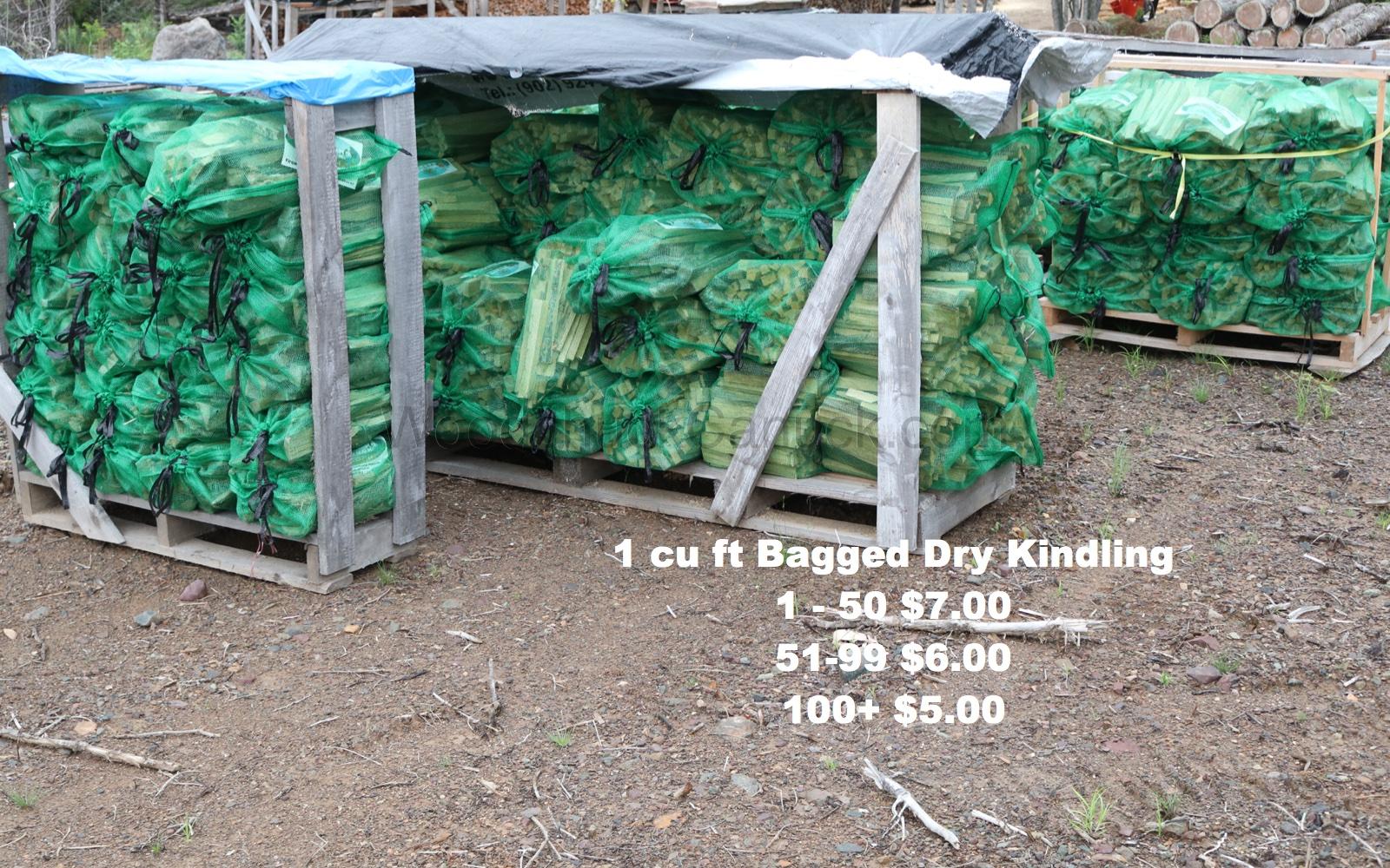 Bagged Kindling Firewood.