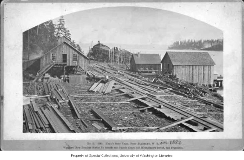 1882 Hall brothers Shipyard.