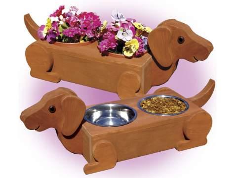 Flower Pot Daschunds Woodworking Plan