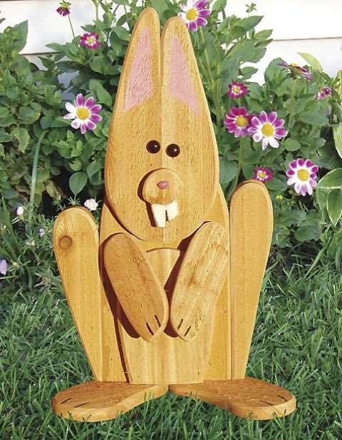 Garden Lookout Rabbit Woodworking Plan