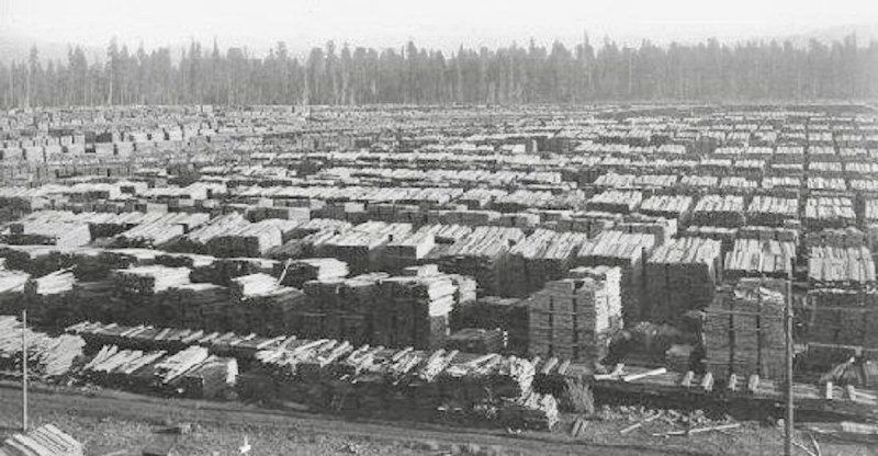 Red River Lumber Co Yard, Lassen County, CA.