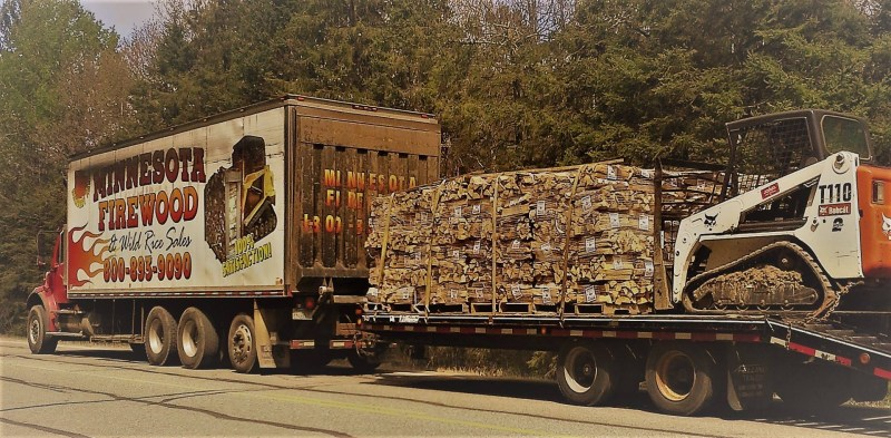 Firewood truck delivery service, big time!