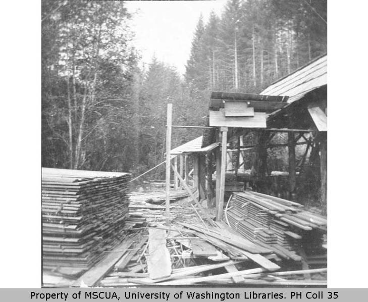 1896 Haines Lumber Mill, Succotash Valley.
