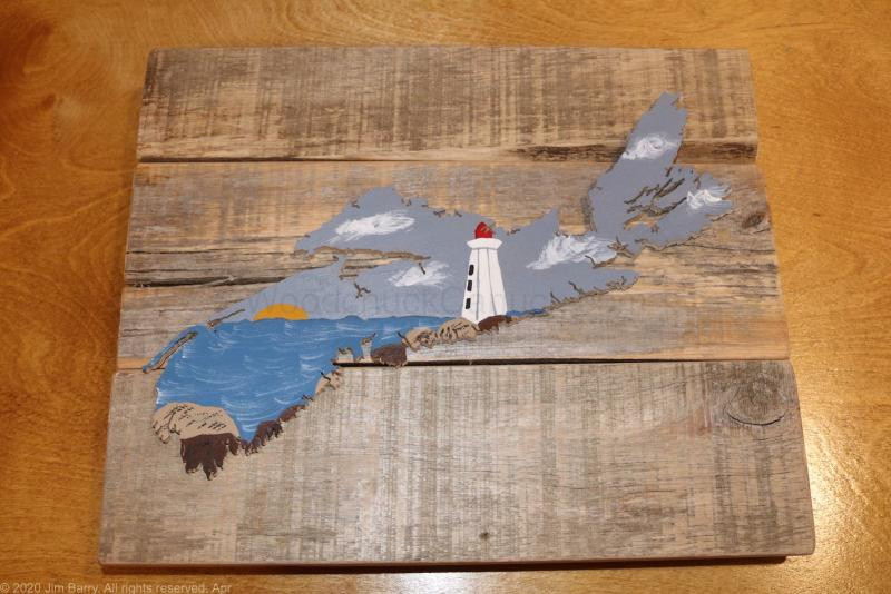 crafts,wood map,map of ns,map of nova scotia,