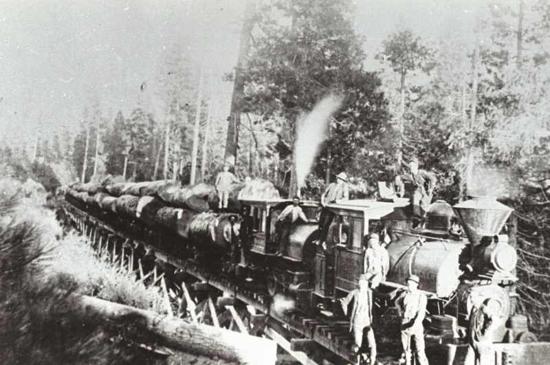 1900 Logging Train from Sierra Flume and Lumber Co