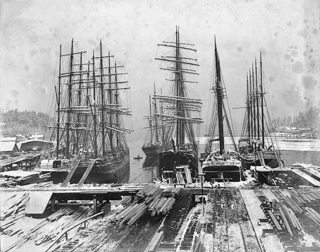 1905 Port Blakely lumber mill, Washington.