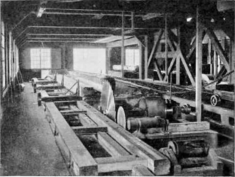 Circular saw mill.