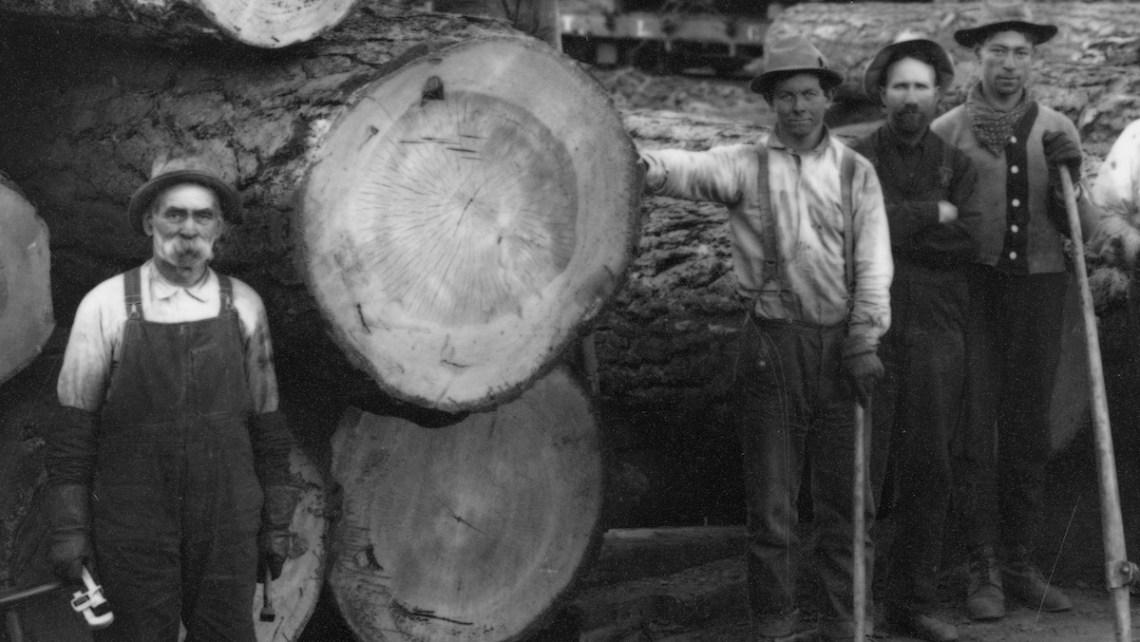 1900 Logging railroad.