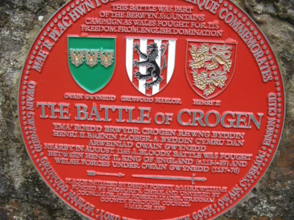 Plaque on bridge over River Ceiriog at Castle Mill