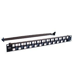 C-NET 1U CAT6A UNLOADED STAGGERED 24PORT PATCH PANEL