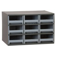 Akro-Mils 9 Drawer Steel Storage Cabinet with Gray Drawers
