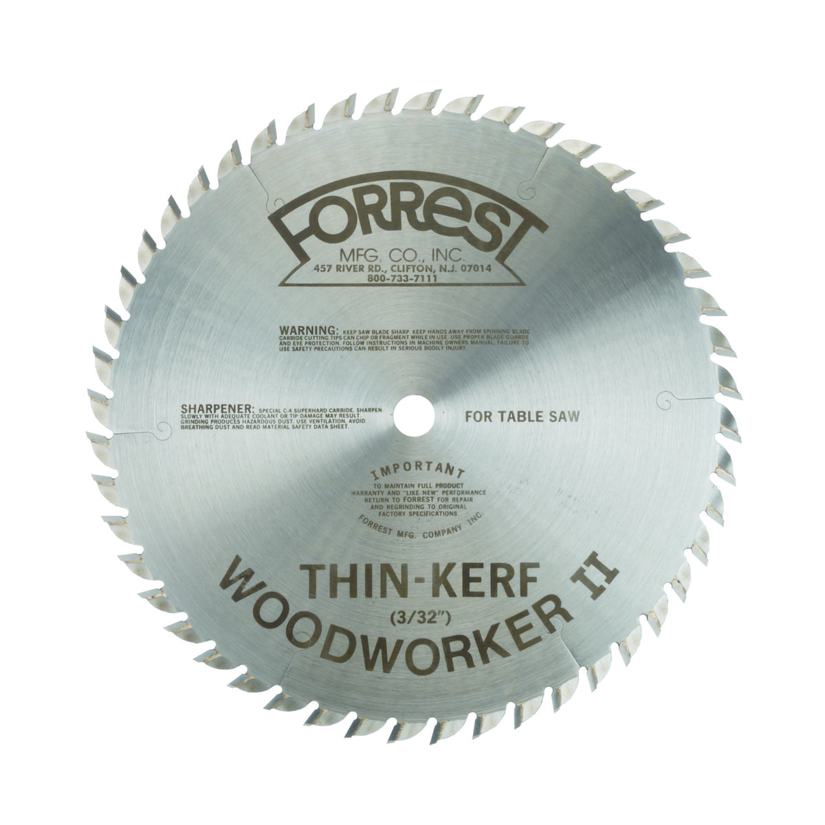 Forrest Woodworker Ii Table Saw Blades