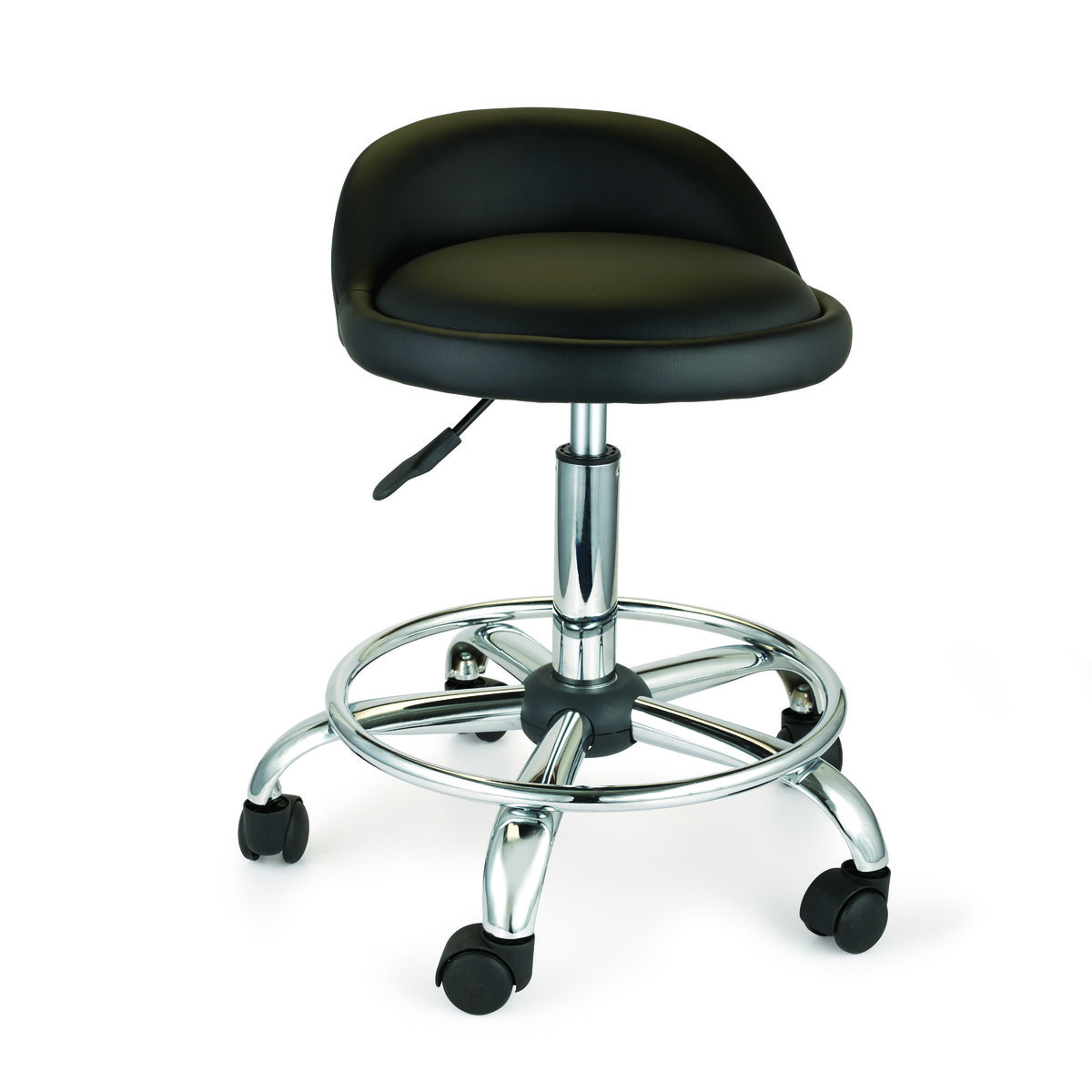 Woodriver Adjustable Height Shop Stool With Casters And Feet