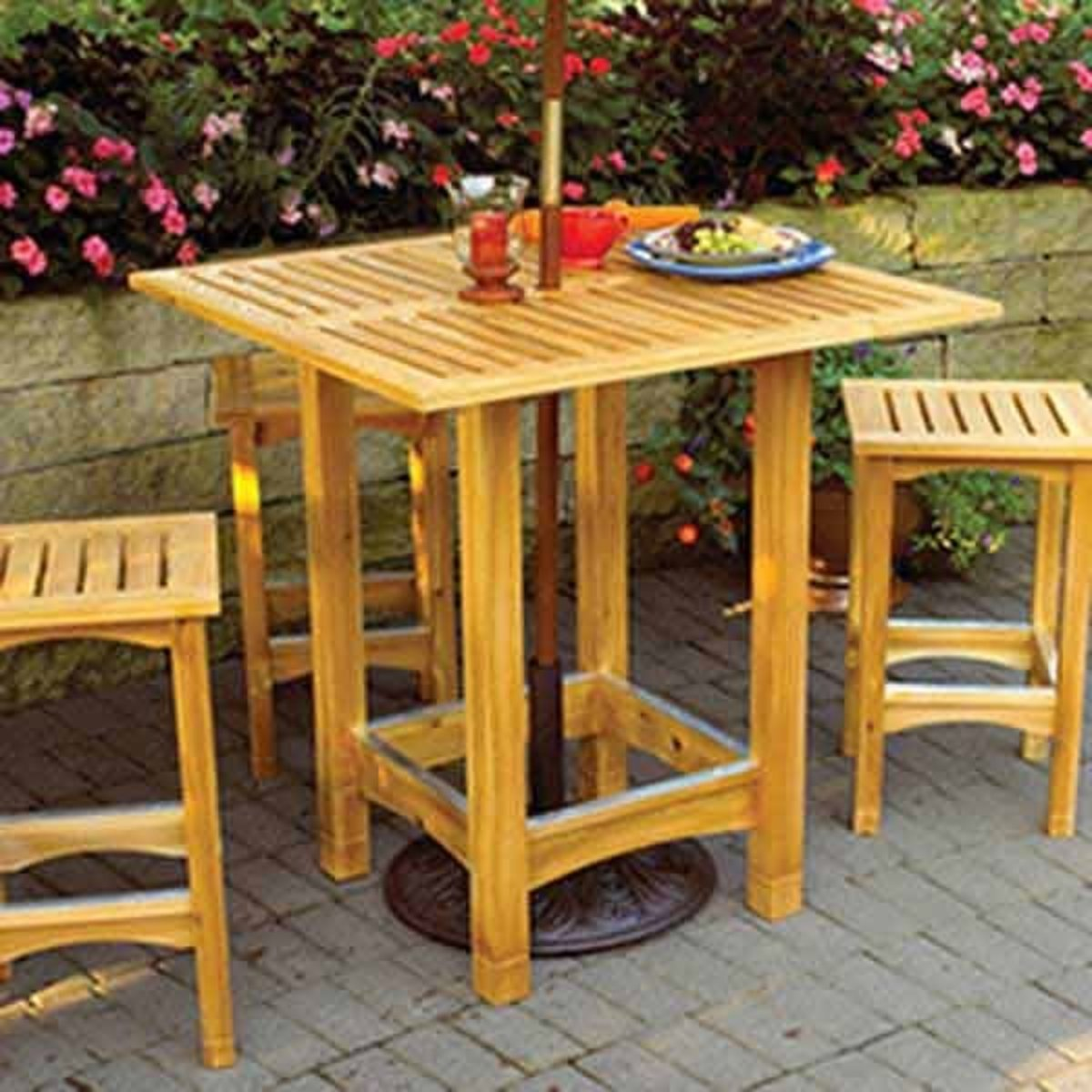 Wood Magazine Woodworking Project Paper Plan To Build Bistro Patio Table