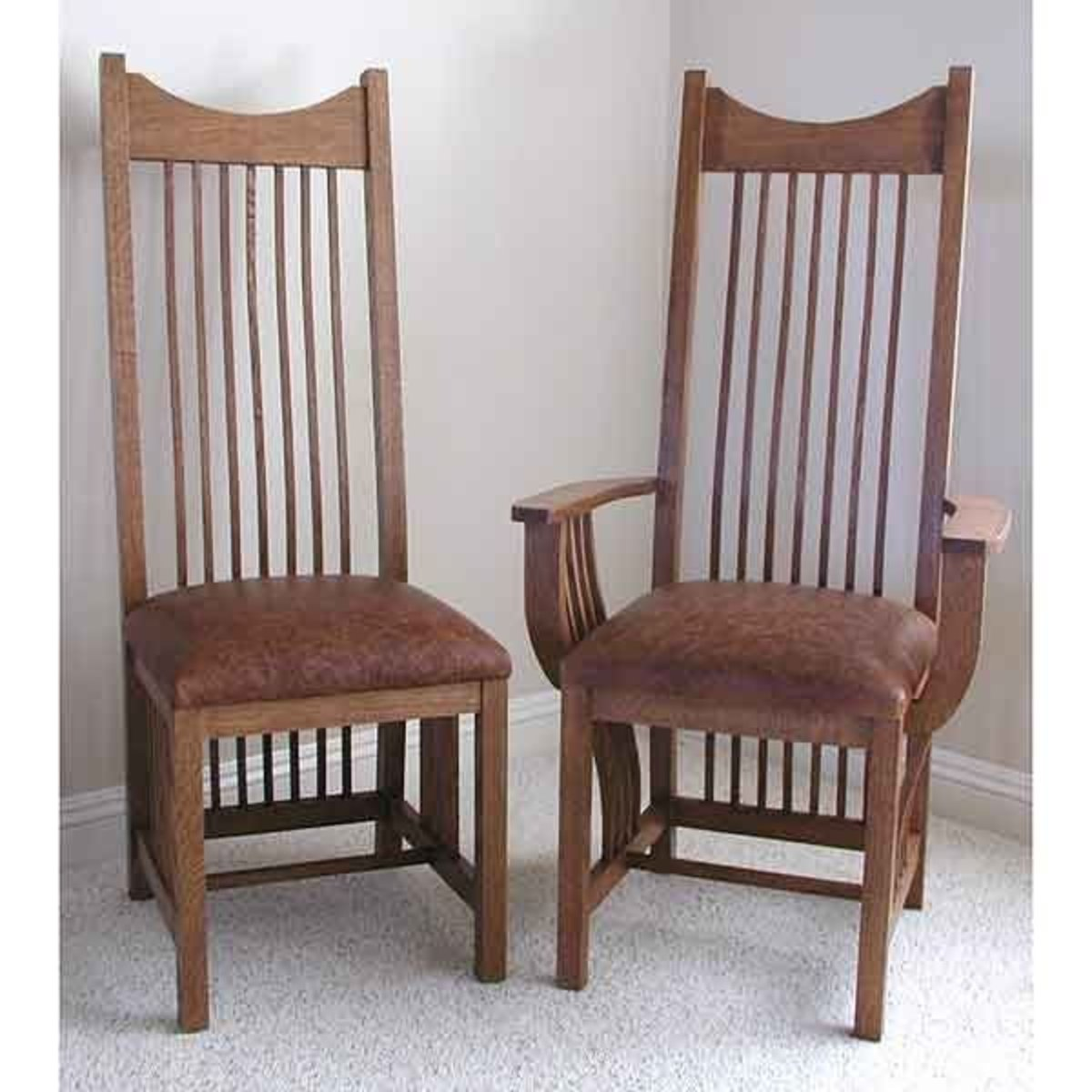 Mission Style Chairs Woodworking Project Paper Plan To Build Mission Style