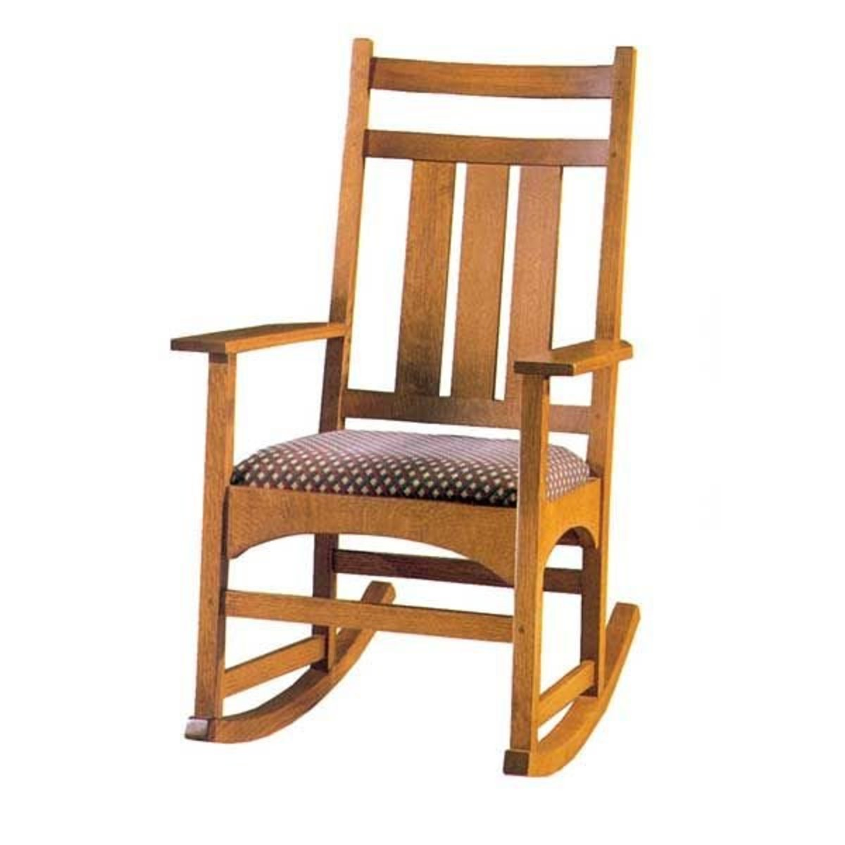building a rocking chair wrought iron table and chairs vintage woodworking project paper plan to build mission style