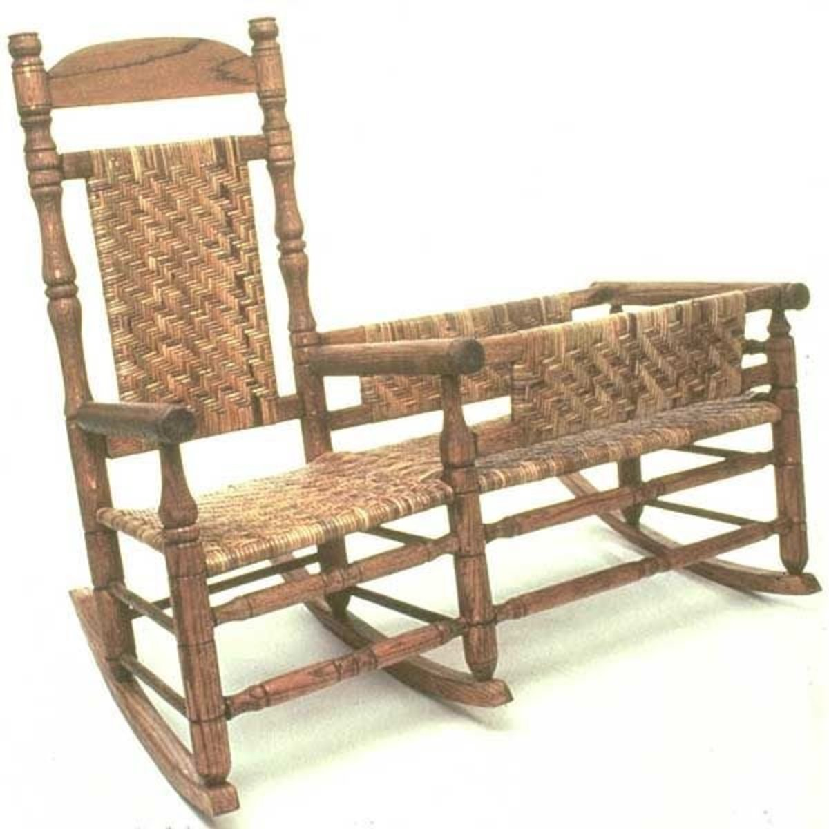 rocking chair crib combo dressing table chairs woodworking project paper plan to build nanny