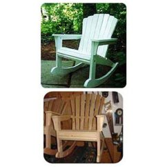 Rocking Chair Woodworking Plans Wheelchair Left Project Paper Plan To Build Adirondack