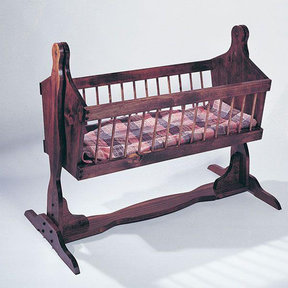 rocking chair crib combo green dining table and chairs u bild woodworking project paper plan to build country cradle