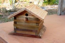 log cabin style bluebird house $25.00